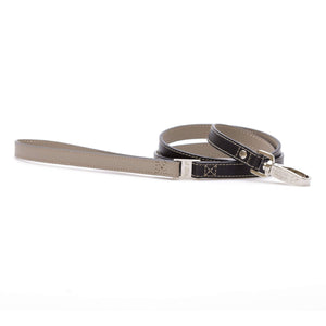 BLACK & BEIGE DOG LEAD