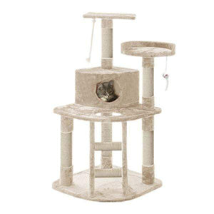 Cat Scratching Post Specialists | Cat Scratcher Trees & Poles 120cm Cat Scratching Post / Tree / Pole - Beige