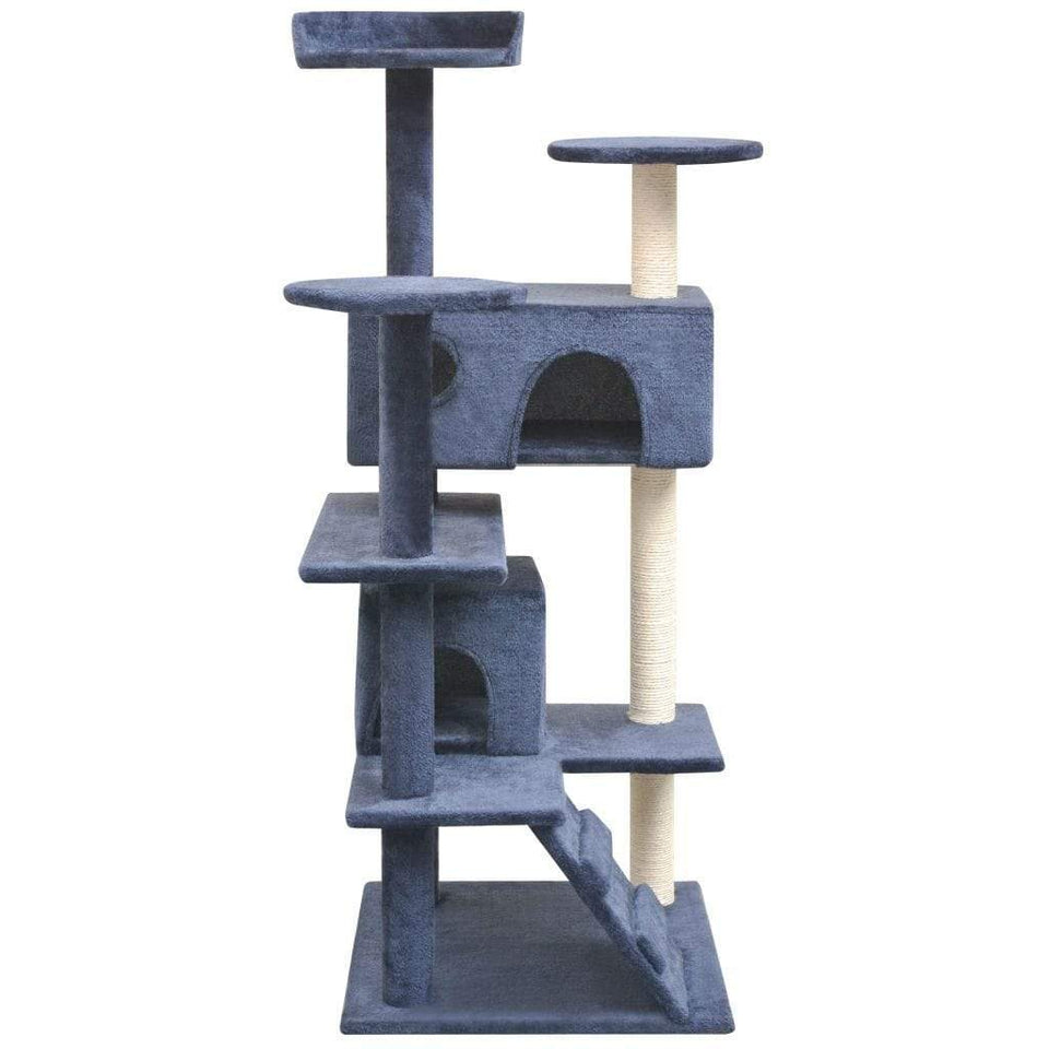 125cm Cat Scratching Post / Tree / Pole - Dark Blue