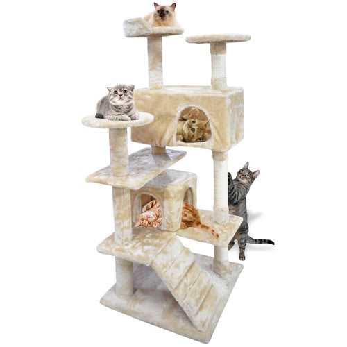 130cm Cat Scratching Post / Tree / Pole - Beige