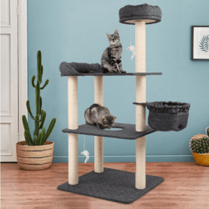 Cat Scratching Post Specialists | Cat Scratcher Trees & Poles 132cm Cat Scratching Post / Tree / Pole - Grey
