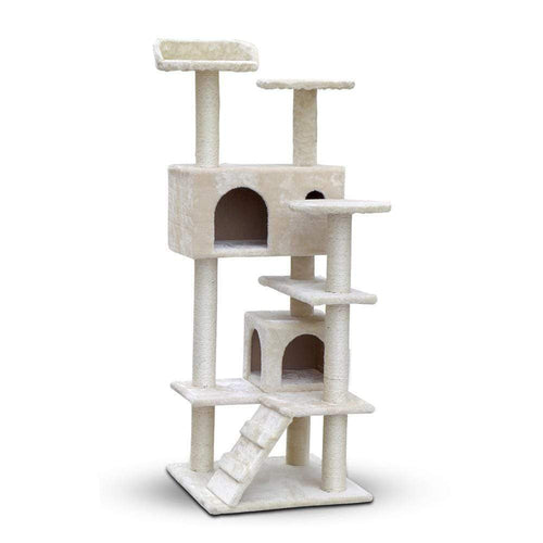 Pet Care 134cm Cat Scratching Post / Tree / Pole - Beige