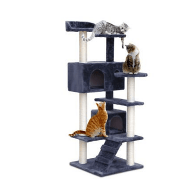 Cat Scratching Post Specialists | Cat Scratcher Trees & Poles 134cm Cat Scratching Post / Tree / Pole - Grey