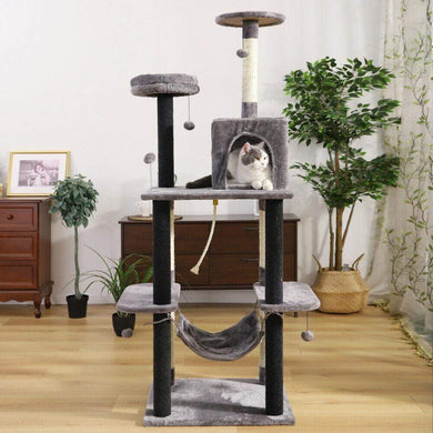 175cm Cat Scratching Post / Tree / Pole - Grey/Black