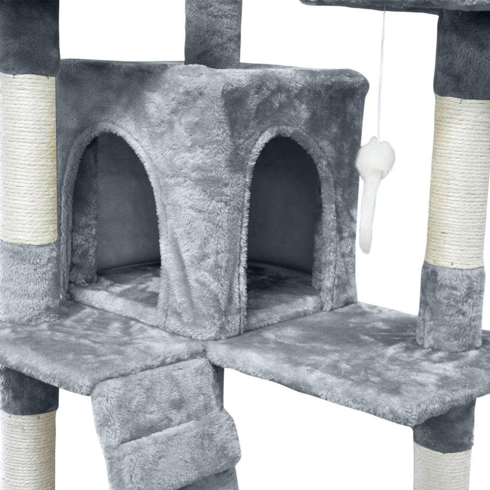 Cat Scratching Post Specialists | Cat Scratcher Trees & Poles 180cm Cat Scratching Post / Tree / Pole - Light Grey