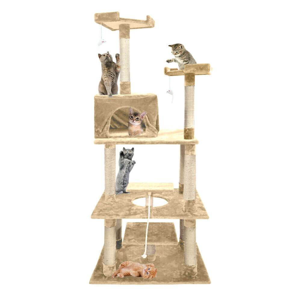 PaWz 1.98M Cat Scratching Post Tree Gym House Condo Furniture Scratcher Tower