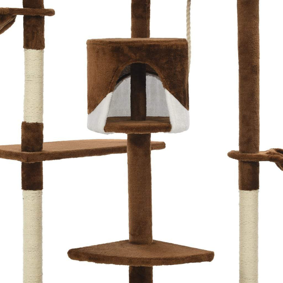 203cm Cat Scratching Post / Tree / Pole - Brown & White