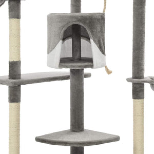 203cm Cat Scratching Post / Tree / Pole - Grey & White