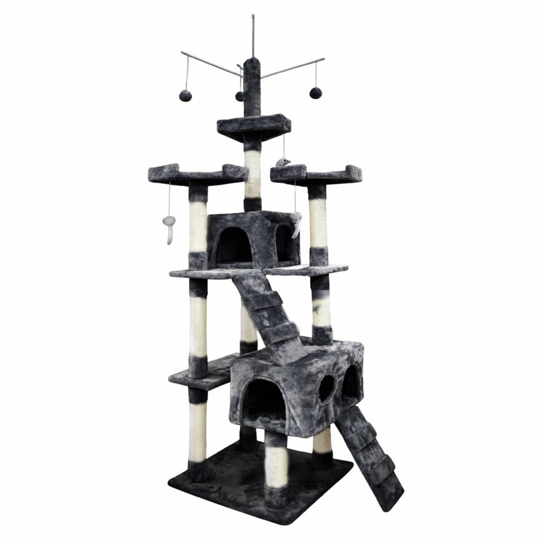 210cm Cat Scratching Post / Tree / Pole - Grey