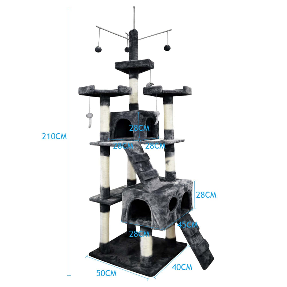 PaWz 2.1M Cat Scratching Post Tree Gym House Condo Furniture Scratcher Tower