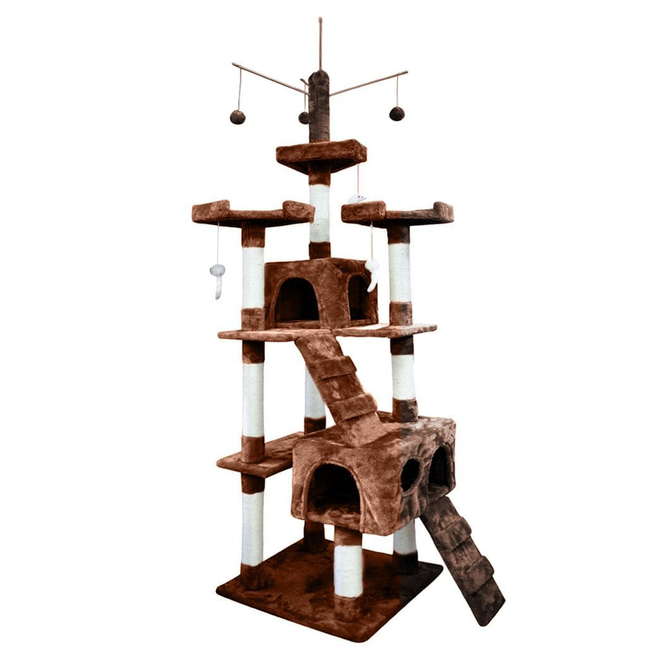 Cat Scratching Post Specialists | Cat Scratcher Trees & Poles 210cm Cat Scratching Post / Tree / Pole - Brown