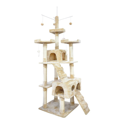 Cat Scratching Post Specialists | Cat Scratcher Trees & Poles 210cm Cat Scratching Post / Tree / Pole - Cream