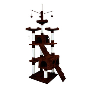 Cat Scratching Post Specialists | Cat Scratcher Trees & Poles 210cm Cat Scratching Post / Tree / Pole - Dark Brown