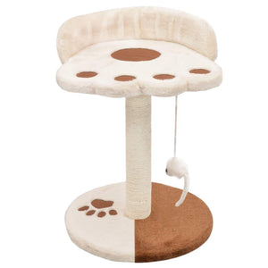 40cm Cat Scratching Post / Tree / Pole - Beige & Brown
