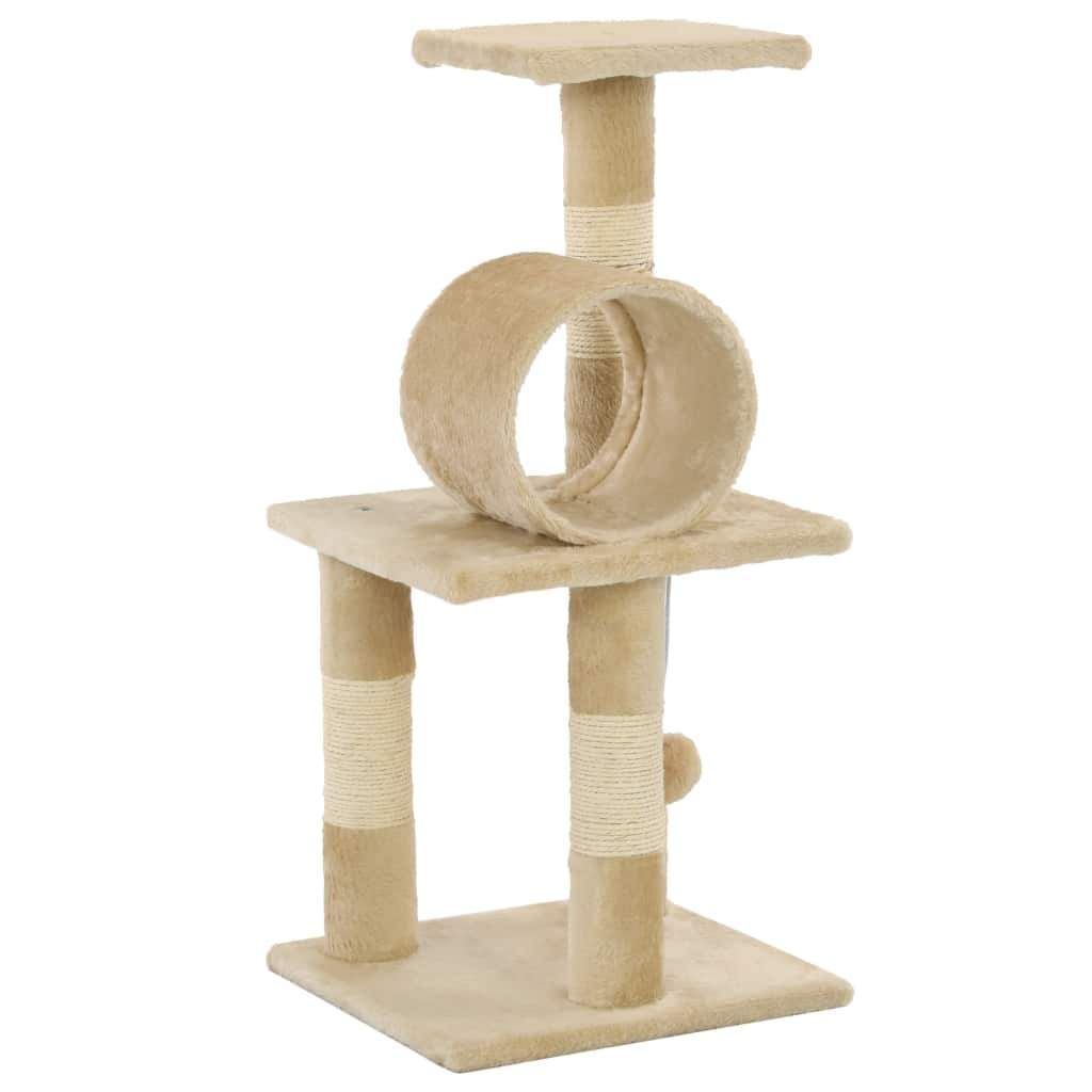 65cm Cat Scratching Post / Tree / Pole - Beige