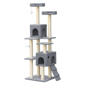 Pet Care 7 Level Cat Scratching Post Post / Tree / Pole - Grey