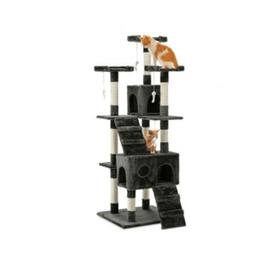 Cat Scratching Post Specialists | Cat Scratcher Trees & Poles Triple Perch High Rise Cat Scratching Post / Tree / Pole - Grey