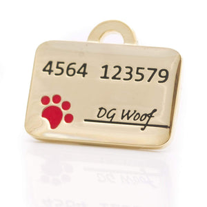 CREDIT CARD PET ID TAG