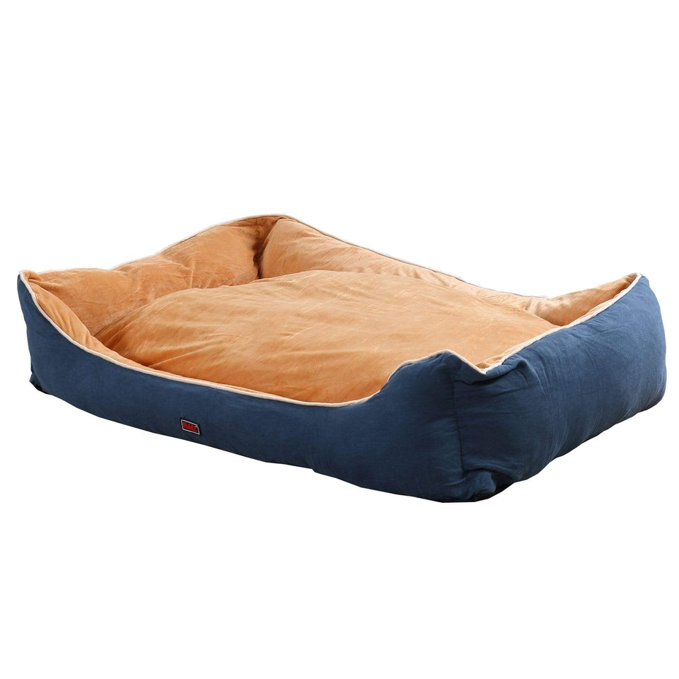Deluxe Soft Pet Bed Mattress with Removable Cover Size X Large in Blue Colour