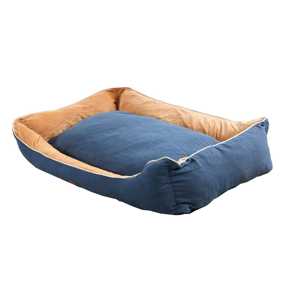 Deluxe Soft Pet Bed Mattress with Removable Cover Size XX Large in Blue Colour
