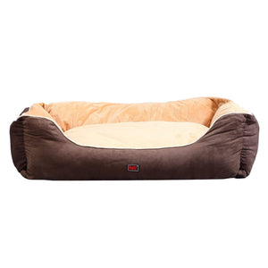 Deluxe Soft Pet Bed Mattress with Removable Cover Size XX Large in Brown Colour
