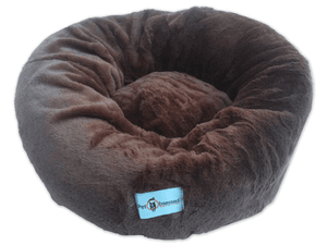 Dog & Puppy Bed Specialists | Dog & Puppy Beds, Trampolines & Mats Brown Plush Calming Dog, Puppy & Cat Pet Sofa Bed