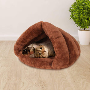 Pet Care Cave Pet Bed - Brown
