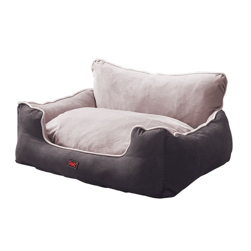 Dog & Puppy Bed Specialists | Dog & Puppy Beds, Trampolines & Mats Deluxe Dog Bed with High Back Support - Grey