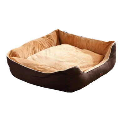 PaWz Deluxe Soft Pet Bed Mattress with Removable Cover Size XXX Large in Brown Colour