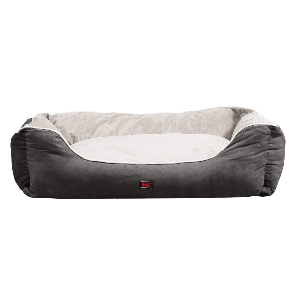 Deluxe Soft Pet Bed Mattress with Removable Cover Size Medium in Grey Colour