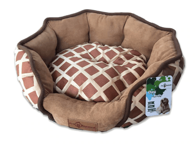 Dog & Puppy Bed Specialists | Dog & Puppy Beds, Trampolines & Mats Reversible Chocolate Round Dog, Puppy & Cat Pet Bed
