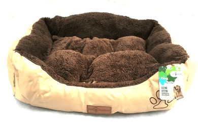 Dog & Puppy Bed Specialists | Dog & Puppy Beds, Trampolines & Mats Reversible Gold & Chocolate Rectangle Dog, Puppy & Cat Pet Bed