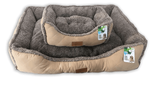 Reversible 'Fluffy Cloud' Cushioned Rectangular Dog Bed