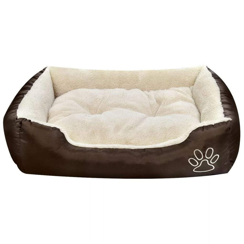 vidaXL Warm Dog Bed with Padded Cushion S