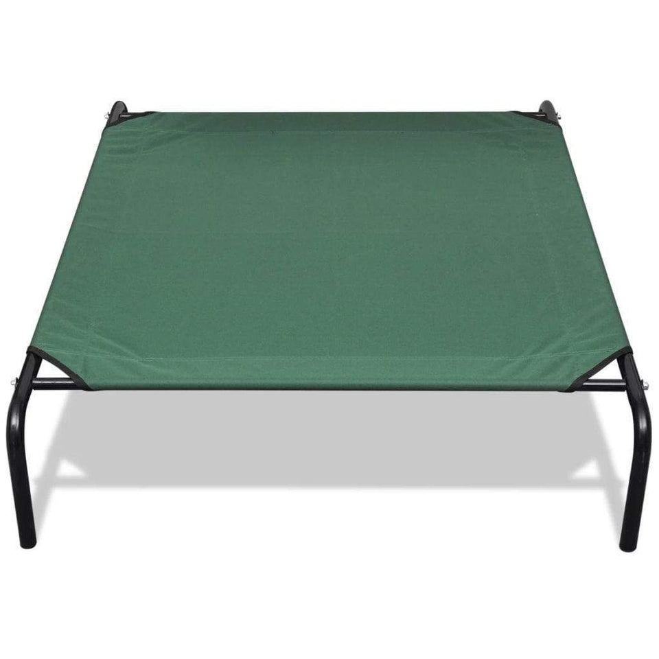 vidaXL Elevated Pet Bed with Steel Frame 110 x 80 cm