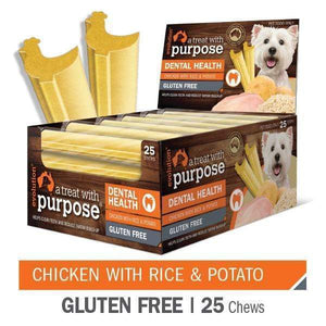 "EVOLUTION ""A TREAT WITH PURPOSE "" CHICKEN WITH RICE AND POTATO 25 PER CARTON"