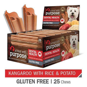 "EVOLUTION ""A TREAT WITH PURPOSE "" KANGAROO WITH RICE AND POTATO 25 PER CARTON"