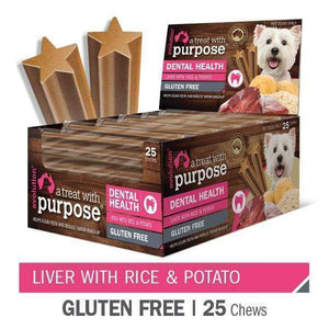 "EVOLUTION ""A TREAT WITH PURPOSE "" LIVER WITH RICE AND POTATO 25 PER CARTON"