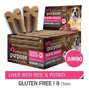 "EVOLUTION ""A TREAT WITH PURPOSE "" LIVER WITH RICE AND POTATO JUMBO 8 PER CARTON"