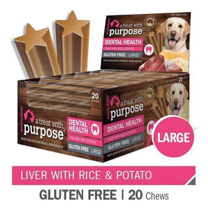 "EVOLUTION ""A TREAT WITH PURPOSE "" LIVER WITH RICE AND POTATO LARGE 20 PER CARTON"