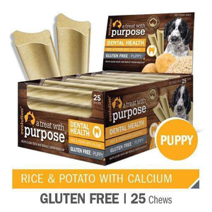 "EVOLUTION ""A TREAT WITH PURPOSE "" RICE AND POTATO WITH CALCIUM - PUPPY 25 PER CARTON"