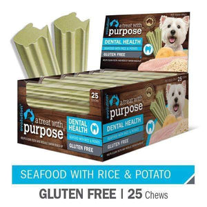 "EVOLUTION ""A TREAT WITH PURPOSE "" SEAFOOD WITH RICE AND POTATO 25 PER CARTON"