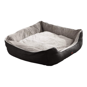 Grey Large Soft Pet Bed Mattress with Removable Cover