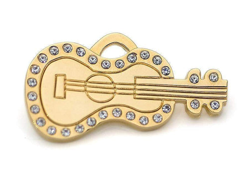 GUITAR BLING PET ID TAG