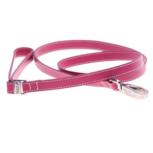 HAMISH PINK LEATHER DOG LEAD