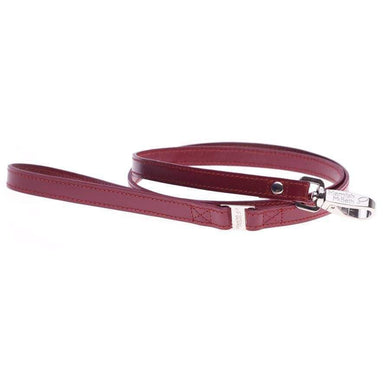 HAMISH RED LEATHER DOG LEAD
