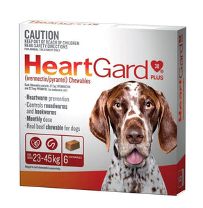 Heart Gard-30 Plus Chew Brown (6 Pack)