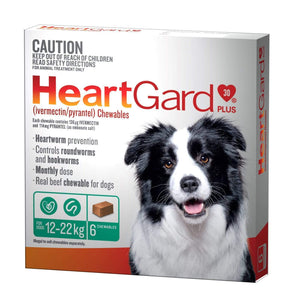 Heart Gard-30 Plus Chew Green (6 Pack)