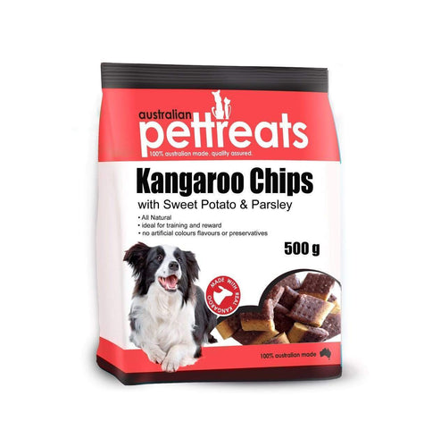 Kangaroo Chips with Sweet Potato & Parsley