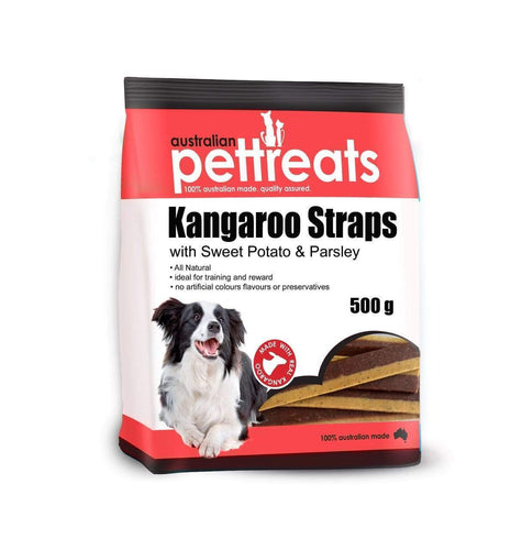 Kangaroo Straps with Sweet Potato & Parsley 500g